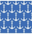 Anchors blue and white seamless pattern background vector image