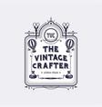 arts and crafts vintage label