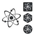 Atom icon set monochrome vector image vector image
