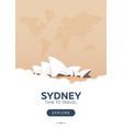 australia sydney time to travel travel poster vector image