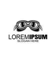 bikers helmet goggles logo design template vector image vector image