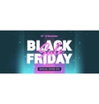 black friday sale in style 80 s vector image vector image