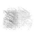 black halftone blob vector image