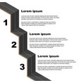 black road infographic vector image vector image