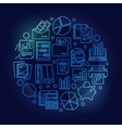 Blue accounting and research vector image vector image