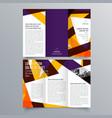brochure design 941 vector image