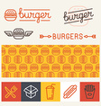 burger logo design elements vector image vector image