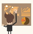 business man present information vector image