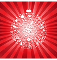 Christmas Ball From Icons vector image vector image