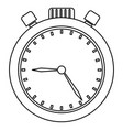 chronometer device isolated icon vector image vector image