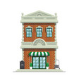 classic hotel building vector image vector image