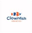 clownfish logo design fish logo design vector image