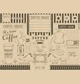 coffee menu placemat vector image vector image