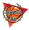 Color vintage basketball emblem vector image vector image