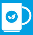 cup of tea icon white vector image vector image