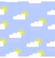 Cute seamless pattern with sun and clouds vector image vector image