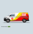 delivery van template with advertise editable vector image vector image