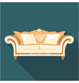Digital vintage brown sofa vector image vector image
