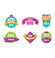 Discount tags banners and stickers vector image vector image