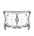 Exquisite Fabulous Imperial Baroque chest table vector image vector image