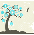Fantasy tree with bird vector image