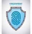 fingerprint design vector image