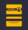 fitness club gym card template vector image vector image