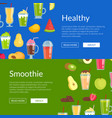flat smoothie elements web banner templates vector image
