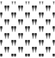 Flippers pattern simple style vector image vector image