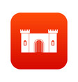 fortress with gate icon digital red vector image vector image