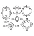 Frames and vignettes vector image