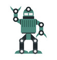 funny robot in flat style vector image vector image