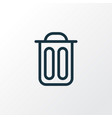 garbage icon line symbol premium quality isolated vector image