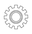 gear technology on white background vector image
