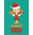 Giggest Christmas sale holiday banner vector image