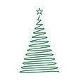 hand drawn christmas tree template for your design vector image vector image