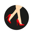 high heel shoes on legs vector image