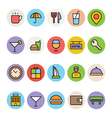 Hotel and Restaurant Colored Icons 1 vector image vector image