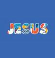 jesus concept word art vector image vector image