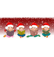 kids with books for christmas vector image