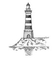 Lighthouse engraving style