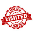 limited stamp sign seal vector image vector image