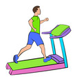 man running on a treadmil icon cartoon vector image vector image