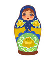 matrioshkarussian doll isolated on a white vector image vector image