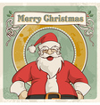Merry christmas vintage postcard vector image