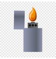 metal lighter icon cartoon style vector image
