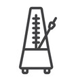 metronome line icon music and instrument vector image vector image