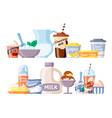 milk product healthy natural fresh farm dairy vector image vector image