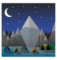 Mountain camp at night Flat design vector image vector image
