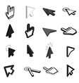Mouse pointer icons set isometric 3d style vector image vector image